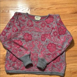 Reference Point gray and pink sweater -M